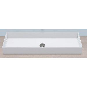 Alape METAPHOR Obdĺžníková umývadlová misa 100 x 37,5 x 11,5 cm AB.ME1000
