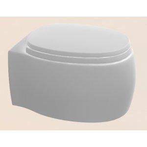Agape PEAR 2 Závesné WC so sedátkom 38,8 x 52,5 x 25,5 cm ACER0897WZ