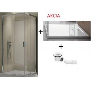 SanSwiss TOP line TLSACS09050 AKCIA Rohový vstup s dvojdielnymi posuvnými dverami a vaničkou s univerzálnym okrúhlym sifónom  AquaPerle Na všetkých sklách sa štandardne dodáva Antiplaková úprava Aquaperle, ktorá znižuje usadzovanie nečistôt a vodného kameňa na skle. Vďaka tejto úprave stekajú vodné kvapky zo skla dole a neusadzujú sa na ňom. Na skle môže zostať len niekoľko malých kvapiek. Aquaper