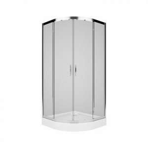 Kolo Rekord Štvrťkruhový sprchovací kút číre sklo, strieborná lesklá, rôzne rozmery