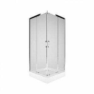 Kolo Rekord Štvorcový sprchovací kút číre sklo, strieborná lesklá, rôzne rozmery