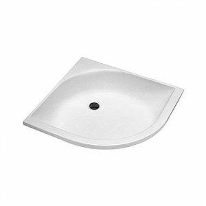 Kolo Štvrťkruhová sprchovacia vanička, hlboká akrylát, 80 x 80 cm XBN0380