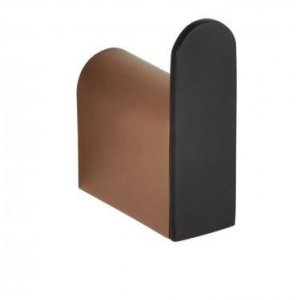 Bemeta GALLA Vešiačik 20x60x46 mm, ružové zlato lesk, čierna mat 108106020