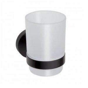 Bemeta DARK Sklený držiak kefiek  70x95x105 mm, čierna 104110010