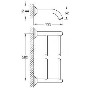 VÝPREDAJ Grohe Essentials Authentic Dvojramenný držiak na uteráky chróm 40654001 (40 654 001)
