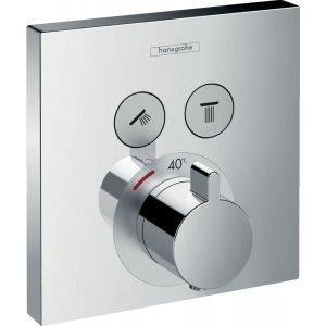 HANSGROHE ShowerSelect Termostatická batéria pod omietku pre 2 spotrebiče rôzne prevedenia