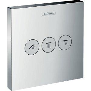 HANSGROHE ShowerSelect Ventil pod omietku pre 3 spotrebiče chróm 15764000