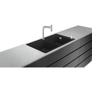 HANSGROHE C51 Drezová kombinácia 370/370 880x510 mm, chróm 43221000