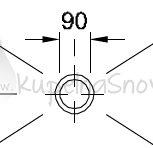 VÝPREDAJ Villeroy & Boch 92250068 výpust Tempoplex Plus D 90 mm biela