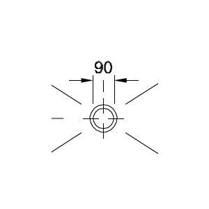 VÝPRODEJ Villeroy Boch 92250068 výpusť Tempoplex Plus D 90 mm bílá