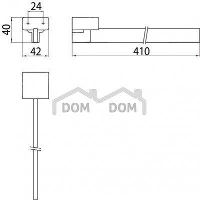 VÝPREDAJ Emco Loft 0550 001 42 Držiak na uteráky, jednoramenný chróm 410x42x40 mm (055000142)