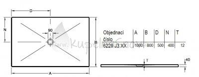 VÝPREDAJ Villeroy & Boch 6229J301 sprchová vanička 1000 x 800 x 40 mm biela s protišmykom