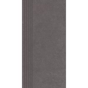 Paradyz Intero 29,8x59,8 cm grafit matný QN298X5981INTEGTSPM Schodisková dlažba