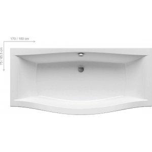 Ravak MAGNOLIA Obdĺžniková vaňa akrylát, rôzne rozmery a prevedenia