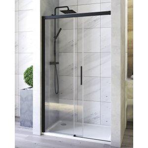 Aquatek WELLNESSBLACKB2 Sprchové dvere s jednými zásuvnými dverami B2