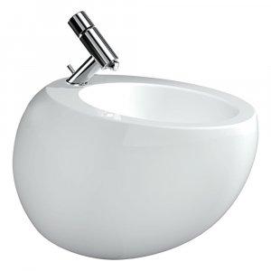 Laufen Il Bagno Alessi One Závesný bidet 390x585x355 mm, keramika, biela 8.3097.1 (H8309714003041)