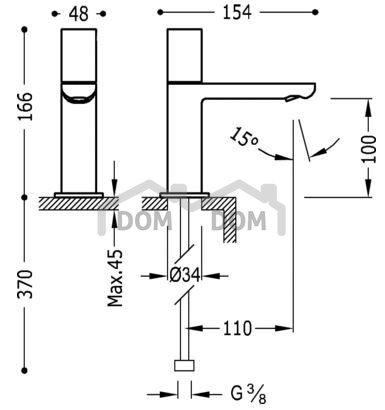 VÝPREDAJ Tres Loft Umývadlová batéria pre jednu vodu 200.503.01 (20050301)