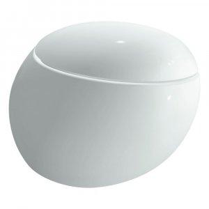 Laufen Il Bagno Alessi One Závesný klozet rimless biela s LCC, 39 × 58,5 × 40 cm H8209714000001 (H8209714000001)