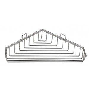Sapho CHROM LINE Drôtená rohová mydeľnička chróm 37003