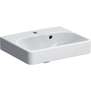 Geberit Smyle Square Malé umývadlo s asymetrickým prepadom 450x360 mm 500.222.01.1