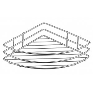 Sapho CHROM LINE Drôtená rohová polica jednoduchá chróm 37005