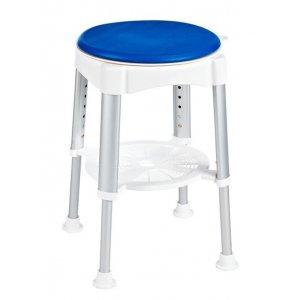 Sapho Stolička otočná, nastavitelná výška biela/modrá A0050401