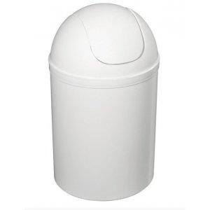 Sapho Odpadkový kôš výklopný 5 l, plast, biela 20309