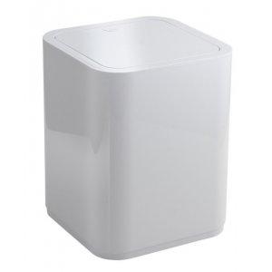 Sapho SEVENTY Odpadkový kôš výklopný 8 l, ABS plast, biela