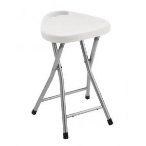 Sapho WHITE LINE Kúpeľňová stolička 30x46,5x29,3 cm, biela CO75