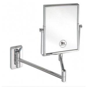 Sapho Kozmetické zrkadielko hranaté závesné bez osvetlenia 155x200mm, chróm XP011