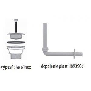 Jika Mio Dopojenie umývadla (plast) vrátane umývadlovej výpuste plast H8939060000001 (H8939060000001)