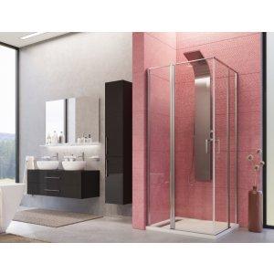 Aquatek YES Sprchový kút štvorcový s dvomi otváracími dverami A4
