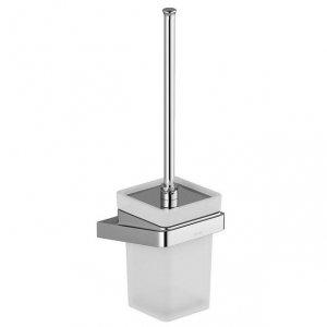 Ravak 10° Držiak s nádobkou a WC kefou chróm, sklo TD 410.00 X07P330