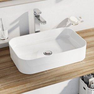 Ravak Ceramic Keramické umývadlo Ceramic Slim R 55 x 37 x 12 cm XJX01155002