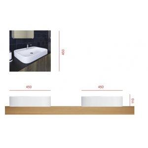 Ravak Chrome Dvierka k skrinke pod umývatko 375x25x530 mm, biela, rôzne prevedenia SD 400