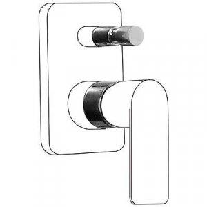 Tres Loft Nástavec pre jednopákový zabudovaný systém vane / sprchy 20018010 (200.180.10)